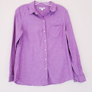 Purple Broad Cloth Button Down Shirt Old Navy